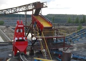 Эффективная промывка отсева на камнедробильном заводе