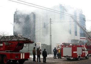 В Луганске в супермаркете произошел пожар: есть пострадавшие