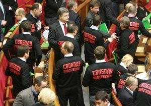 Оппозиция собрала 150 голосов за проведение сессии Рады