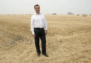 Медведев накопал картошки