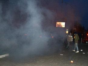 Суд над Демьянюком: немецкое посольство в Киеве забросали дымовыми шашками