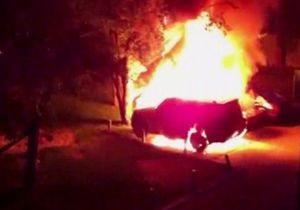 Главе броварского УДАРа ночью сожгли автомобиль