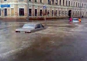 Харьков затопило после сильного ливня