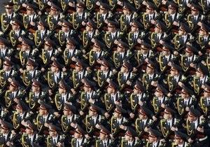 В Днепропетровске впервые провели военный парад