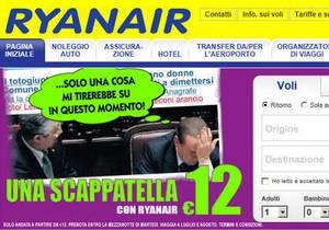Ирландская авиакомпания использовала в рекламе фото Берлускони