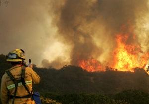 Тысячи туристов эвакуированы из-за лесного пожара в Калифорнии