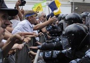 Итоги Дня Независимости в Киеве: У МВД шесть раненых, а оппозиция готовится к новым протестам
