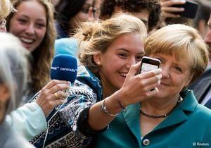 Ангела Меркель провела урок истории в школе