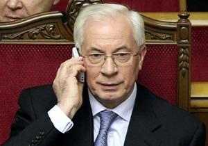 Азаров пригрозил Черновецкому отставкой (обновлено)
