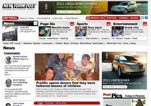 Сайт газеты New York Post сделали платным для владельцев iPad