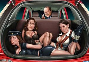 Новости Индии - реклама Ford -  Индийский Ford  рекламируют  Берлускони и связанные женщины