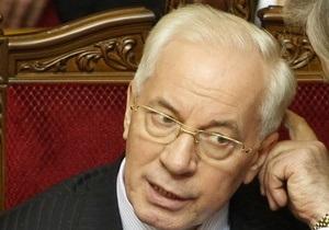 Азаров рассказал газете Партии регионов о достижениях Кабмина