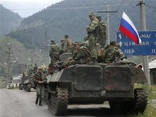Войска РФ расположены по всей трасе из Кутаиси в Зугдиди