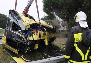 В Италии разбился автобус, перевозивший французских школьников: три человека погибли