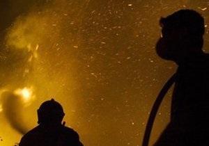 В Киеве горело кафе Очеретяний кіт