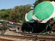 В Днепропетровской области четыре грузовых вагона сошли с рельсов