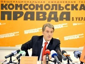 Ющенко прокомментировал выдвижение в президенты несуществующего кандидата Лупана