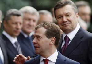 Янукович и Медведев договорились провести межрегиональные экономические форумы