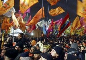 Милиция задержала четырех участников акции в честь годовщины Майдана