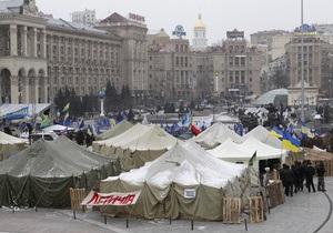 Предприниматели завершили акцию протеста на Майдане