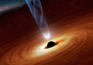 Новости науки - космос - черная дыра: Скорость вращения черной дыры измерили, проследив за ее обедом