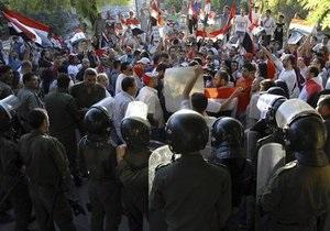 В Сирии убиты полицейский и демонстрант