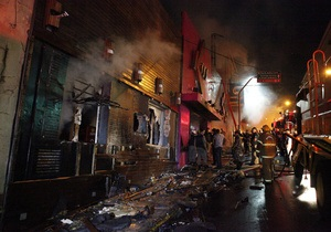 Новости Бразилии - пожар в ночном клубе Бразилии Kiss - ночной клуб Kiss - В результате пожара в бразильском клубе погибл 241 человек - 16 человек обвинены в убийстве после пожара в бразильском ночном клубе