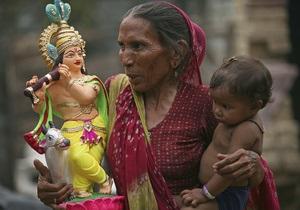Индусы празднуют день рождения Кришны