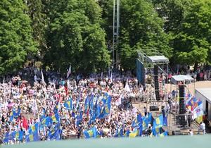 оппозиция - акция Вставай, Украина! - В милиции сообщили об успешном завершении акции Вставай, Украина! в Хмельницком