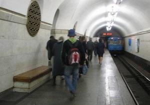 В поезде в киевском метро произошел пожар