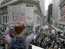 Финансовая поддержка Wall Street  вызвала в США протесты