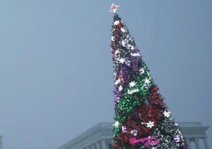 В Желтых Водах новогодняя елка простояла до середины мая