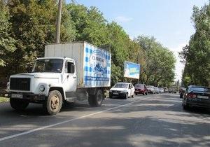 Приезд Януковича парализовал движение в Одессе