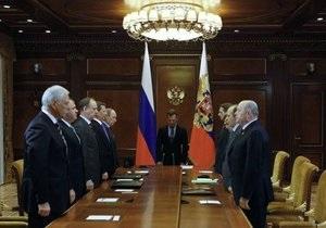 Медведев поблагодарил членов правительства РФ и пожелал Путину успехов