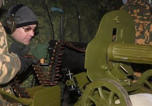 Медведев пострелял из пулемета