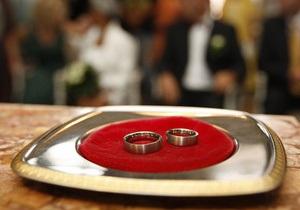 Киевляне стали реже вступать в браки