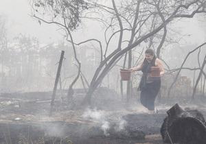 Дымка в столице: под Киевом горят торфяники