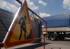 В Киеве реконструируют развязку на пересечении бульвара Дружбы Народов и Надднепрянского шоссе