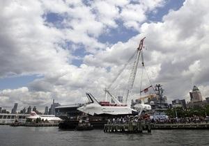 В Нью-Йорке шаттл Enterprise доставили на музей-авианосец