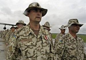В Либерию отправились 150 украинских миротворцев