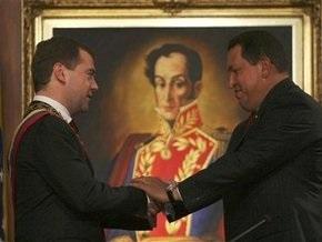 Чавес наградил Медведева Орденом освободителя