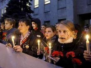 У посольства Украины в Москве прошла акция протеста против гонений на УПЦ МП