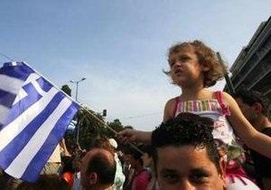 В Греции десятки тысяч демонстрантов собрались у здания парламента