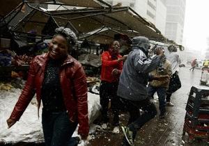 Фотогалерея: А в Африке зима. Жители ЮАР радуются первому снегу