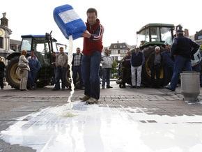 Бельгийские фермеры намерены вылить на землю три миллиона литров молока