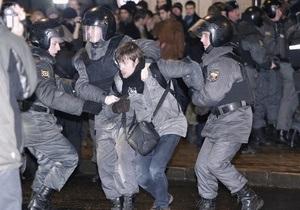 В Санкт-Петербурге вновь начались задержания участников акций протеста