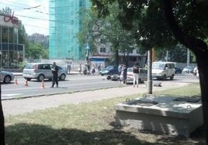 Донецкая милиция ищет мотоциклиста, в упор стрелявшего в водителя автомобиля