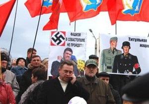 Визит Тягнибока спровоцировал беспорядки в Севастополе