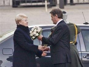 В Украину прибыла президент Литвы