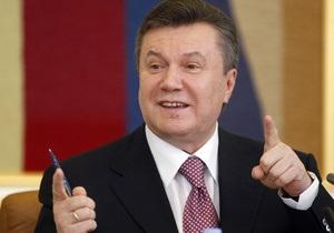 Янукович поблагодарил работников легкой промышленности за профессионализм